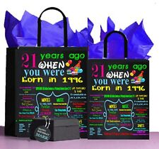 1996 21st Birthday Gift,Gift Bag, A perfect way to turn the past into a Present!