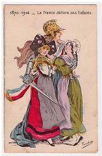 CPA illustrateur Fercham - France délivre Alsace Lorraine 1914 Patriotisme