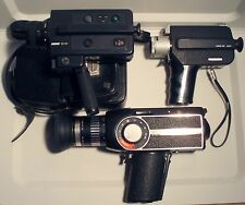LOT OF 3 VINTAGE WORKING CAMERAS, REVUE-CANON ZOOM 250 SUPER 8-EUMIG VIENNETTE 8