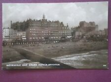 POSTCARD RP SUSSEX BRIGHTON - METROPOLE & GRAND HOTELS C1925