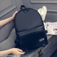 New Fashion Men Women Backpack PU Leather Sports Shoulder Travel School Book Bag