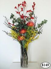 Latex Artificial Flower Real Touch Flower Arrangement Australian Native in Vase