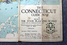 1935 CONNECTICUT MAP Rare EMERGENCY RELIEF COMMISSION CWA Fera GEOLOGY