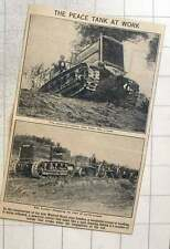 1923 Powerful Tractors Used In The Construction Of The New Watford Road