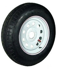 "14"" 5-4.5"" Bolt Circle White Modular Wheel and ST20575D14C Bias Trailer Tire"