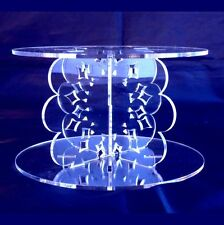 Acrylic Doily Cross Pillars 10cm High for our Wedding & Party Cake Stands