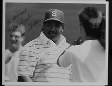 AUTOGRAPHED  PHOTO B&W  AMERICAN FOOTBALL HEAD COACH  DENNIS GREEN
