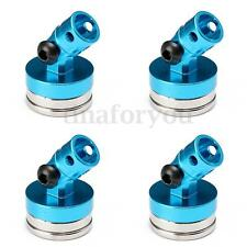 4Pcs 1/10 Alloy Magnetic Stealth Invisible Body Post Mount Blue RC Car Crawler