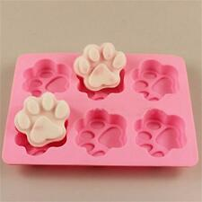 Cat Dog Paw Silicone Fondant Mold Cake Soap Cookies Chocolate Baking Tin Mould