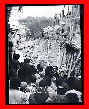 FOTOGRAFIA PHOTO TERREMOTO IRPINIA 1980 PROTEZIONE CIVILE SUL LUOGO DEL DISASTRO