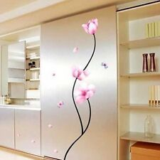 Mural Decal Vinyl Pink Flower Wall Sticker Art Removable Home Room Decor New