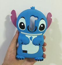 3D Blue Stitch Silicone Back Cover Case For LG Leon 4G LTE H340N C50