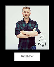 GARY BARLOW #2 Signed Photo Print 10x8 Mounted Photo Print - FREE DELIVERY