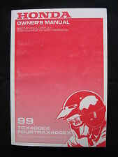 Honda 1999 TRX400EX TRX 400 EX ~NEW~ Original Owners Manual