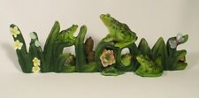 LUCKY FROG WELCOME DESK SIGN Nature Pond Swamp Plant Toad Reptile NEW LE Resin