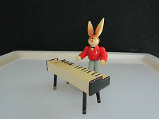 "Vintage Erzgebirge Bunny Rabbit Band Figure-Piano Player - 2.75"" Tall"