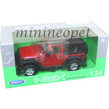 WELLY 22489 2007 JEEP WRANGLER 1/24 DIECAST MODEL CAR RED