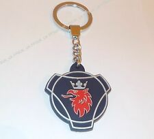 Genuine Scania Truck Griffin Logo Chunky Rubber Metal Key ring Keyring NEW
