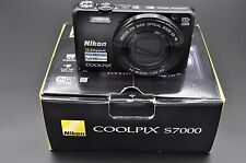 Nikon Coolpix S7000 16MP 3''Screen 20x Zoom Digital Camera BLACK