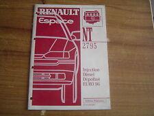 MANUEL REPARATION MECANIQUE RENAULT ESPACE N.T. 2795A INJECTION DIESEL EURO 96