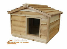 LARGE INSULATED CEDAR CAT HOUSE SMALL DOG HOUSE SHELTER
