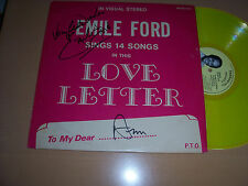 """Emile Ford - Love Letters LP Yellow 12"""" Vinyl -Signed"""