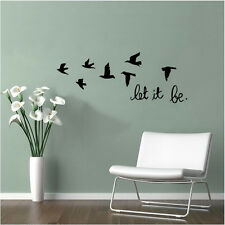 Let It Be Quote With Birds Decorative Wall Decor Vinyl Wall Stickers Removable