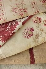Antique French fabric vintage material PROJECT BUNDLE toile de Jouy linen old
