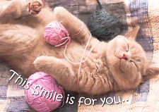 CAT 3D Postcard Lenticular - This Smile is for you...  - Greeting Card