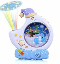 BABY 0mth+  LULLABY SONGS SOUNDS & NIGHT LIGHT PROJECTOR COT SLEEPING AID 88015