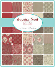 Joyeux Noel French General   Moda  Quilt Fabric Charm Pack 42   5""