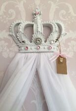 Baby Shower Battesimo PRINCESS BAMBINA BIANCO BABY PINK LETTINO CORONA Canopy