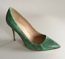 $475 NEW Jcrew 8.5 COLLECTION  Roxie Snakeskin Pumps Green Heels E0127 Womens