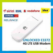 HUAWEI E3372 4G LTE 100 Mbps USB modem DATA CARD ANY SIM AIRTEL BSNL JIO IDEA