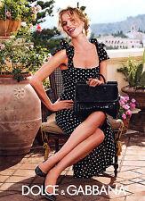 2014 Dolce & Gabbana DG Eva Herzigova in Polka dots MAGAZINE AD
