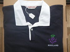 SCOTLAND SCOTTISH SCOTS  RUGBY SHIRT WITH THISTLE LARGE