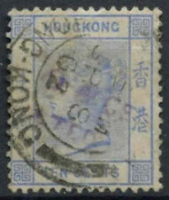 Hong Kong 1900-01 SG#59, 10c Ultramarin QV Used #D20967
