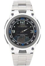 Casio AW82D-1A Mens Stainless Steel Fishing Gear Moon Data Watch Black Dial