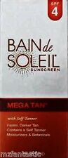 Bain de Soleil Mega Tan Moisturizing Sunscreen With Self-Tanner, 4 oz.