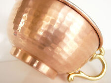 Copper Shaving Bowl, Original Handmade, Regular Size Mug / Cup w/ Ornate handle