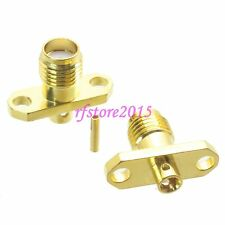 """1pce Connector SMA female 2-holes Flange solder RG405 0.086"""" cable RF COAXIAL"""