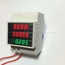 AC 110V 220V Digital LCD 100A Wechselstromzähler Stromzähler KWH Amp Volt meter