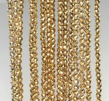 2MM 18K GOLD HEMATITE GEMSTONE FACETED ROUND 2MM LOOSE BEADS 15.5""