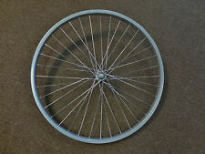 "26 in 26 x 1.75 Front Bike Wheel Grey 5/16"" Nutted Axle Mountain Cruiser 2.125"