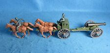 CIVIL WAR UNION LIMBER + GUN WITH CREW AND HORSES-CLASSIC TOY SOLDIERS/MARX