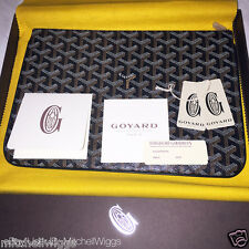 Goyard Senat MM Pouch Clutch - Black - Makeup Toiletry Travel Case Unisex Wallet