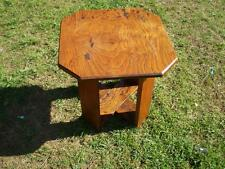 English Oak side table solid rustic oak vintage English furniture solid timber