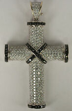 Theo Fennell 18K White Gold 4.7 CT Clear Black Diamond Jesus Cross Pendant Piece