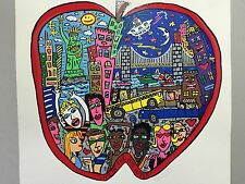 "James Rizzi: original ""LIFE IN THE BIG APPLE"", handsigniert, kein 3D- vergriffen"