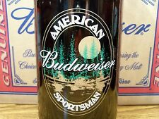 Budweiser,  AMERICAN  SPORTSMAN  Glass  Beer  Bottle  Empty,  64 Oz King Pitcher